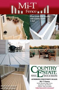 Vinyl Decking,Vinyl Fencing,Country Estate Polyvinyl Decking,Fox Valley Authorized Dealer, Wisconsin Country Estate Fence,Mi T Fence,Fox Valley, Green Bay, Appleton