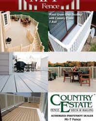 Mi T Fence is an authorized, independent dealer of Country Estate Fence, Deck & Railing